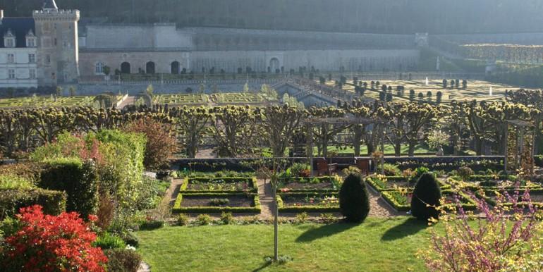 Panorama vu du Petit Villandry